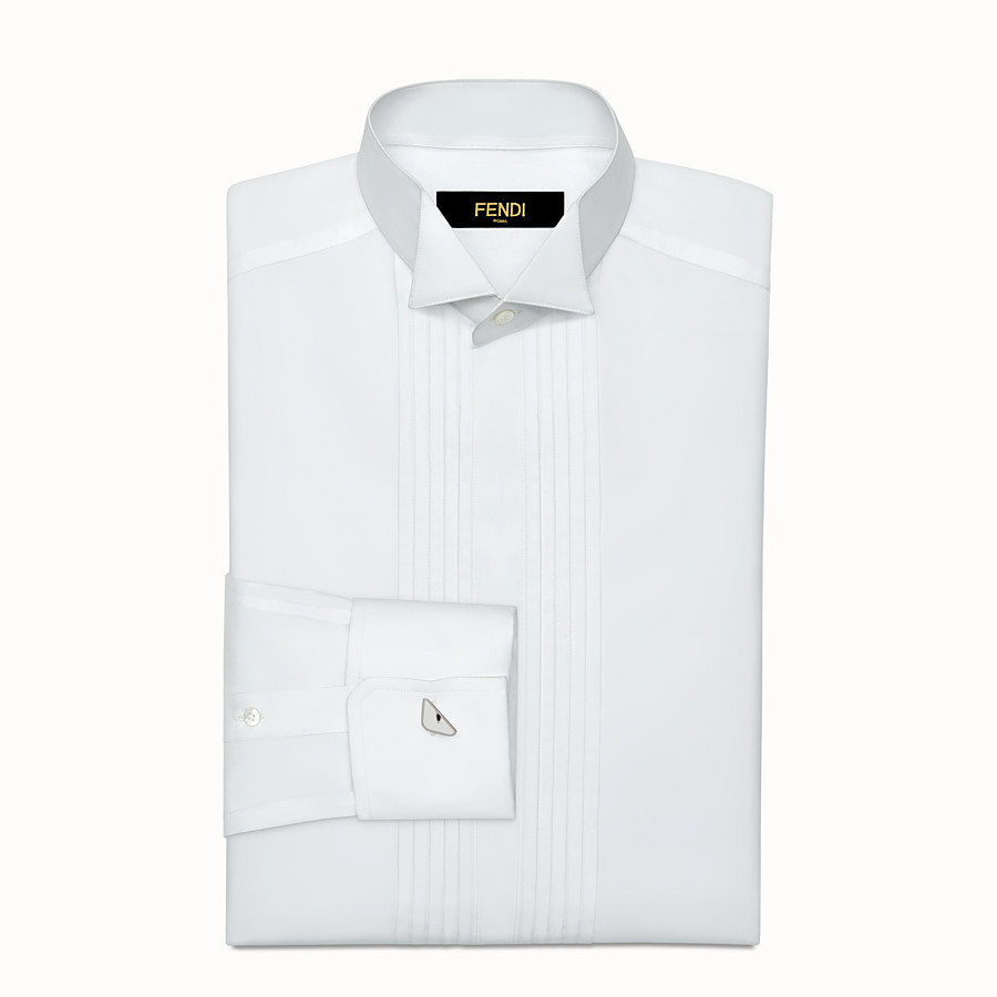 FENDI CUFFLINKS - in white enameled metal - view 2 detail