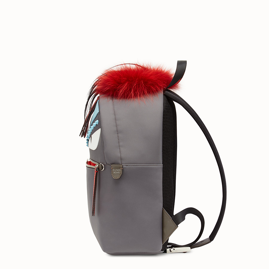 FENDI BACKPACK - Backpack in fabric and fur - view 2 detail