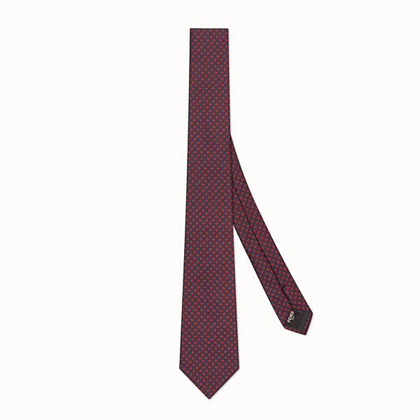 FENDI TIE - Grey silk tie - view 1 small thumbnail