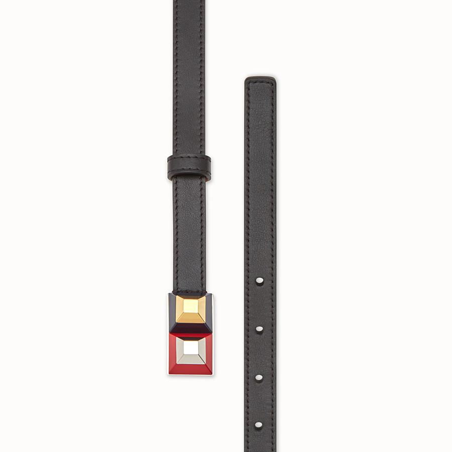 FENDI RAINBOW皮帶 - 黑色皮革鉚釘皮帶 - view 2 detail