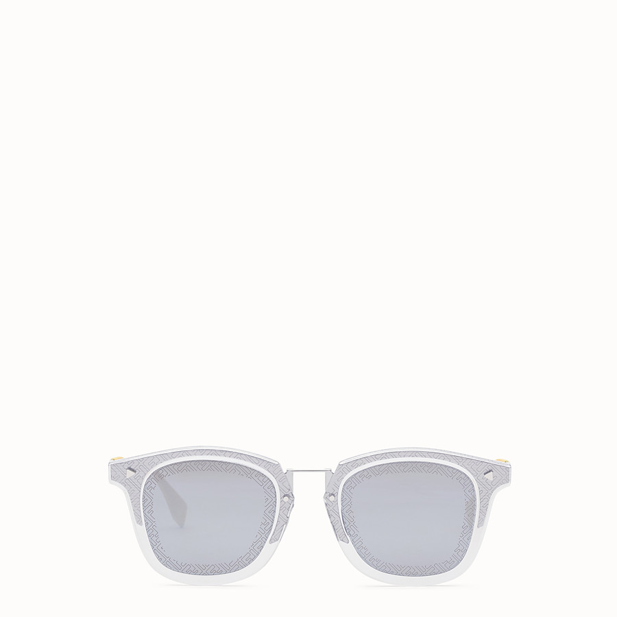 FENDI FF - Transparent and palladium sunglasses - view 1 detail