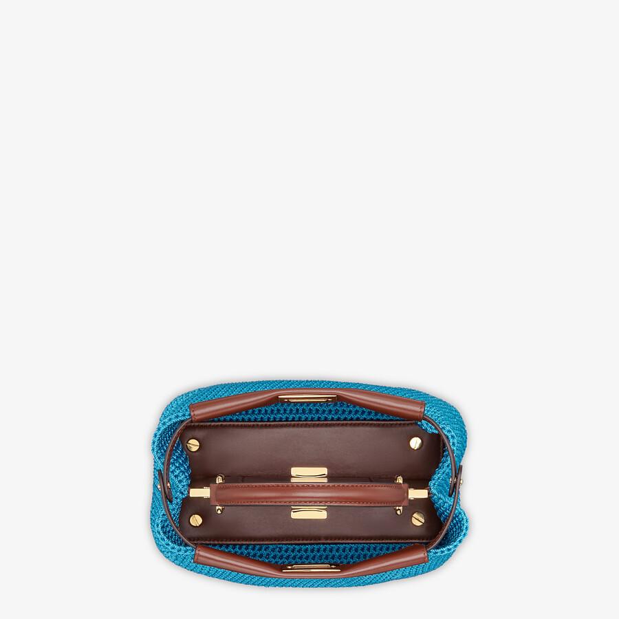 FENDI PEEKABOO MINI - Blue cotton crochet bag - view 4 detail