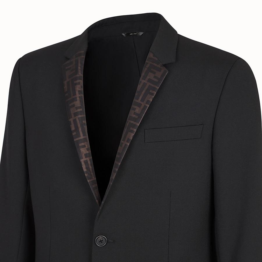 FENDI GIACCA - Blazer in lana nero - vista 3 dettaglio