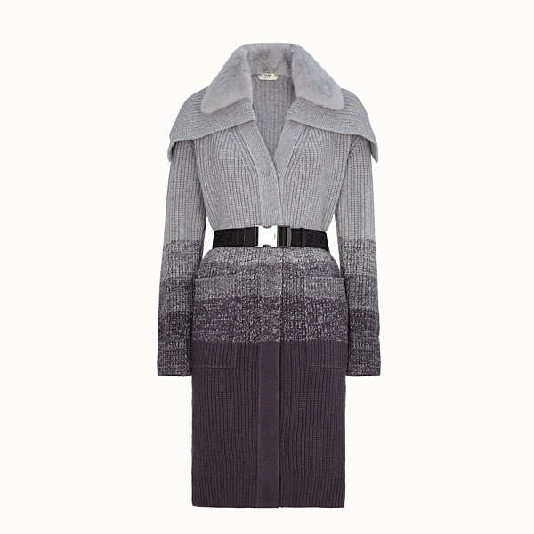 FENDI COAT - Grey wool coat - view 1 small thumbnail