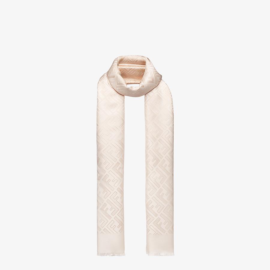 FENDI STOLA SIGNATURE - Stola in seta rosa - vista 2 dettaglio