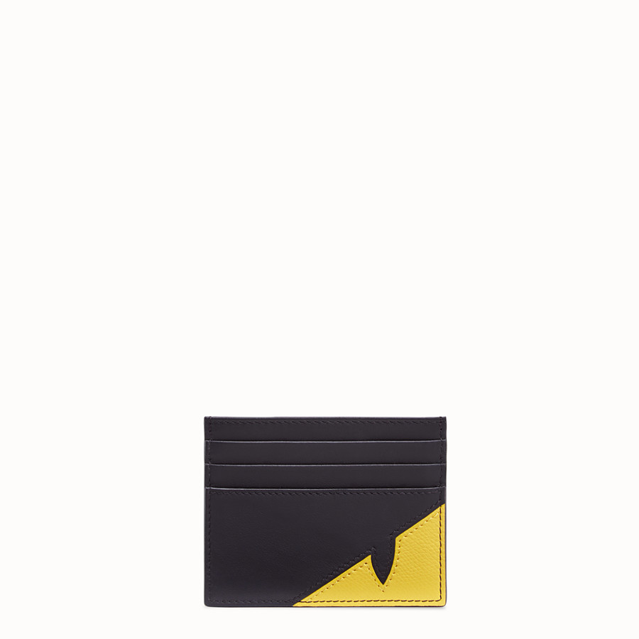FENDI CARD HOLDER - Black calf leather card holder - view 1 detail