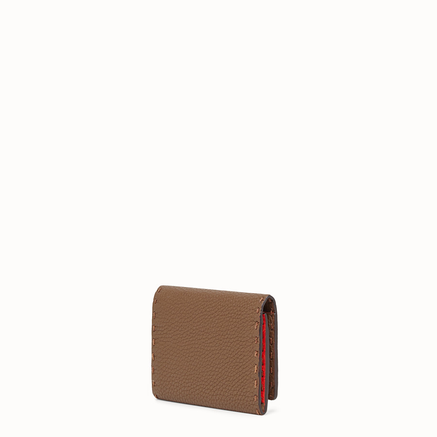 FENDI CARD HOLDER - Brown leather business card holder - view 2 detail