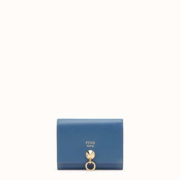 FENDI CARD HOLDER - Blue leather business card holder - view 1 small thumbnail