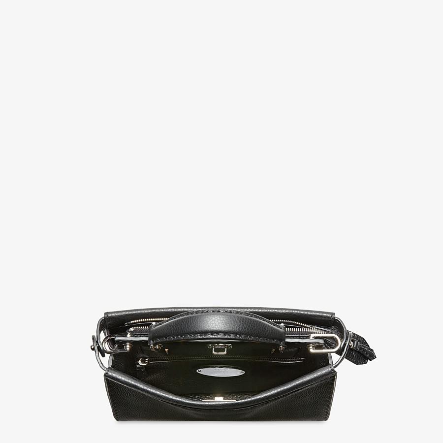 FENDI PEEKABOO ICONIC FIT MINI - Black leather bag - view 4 detail