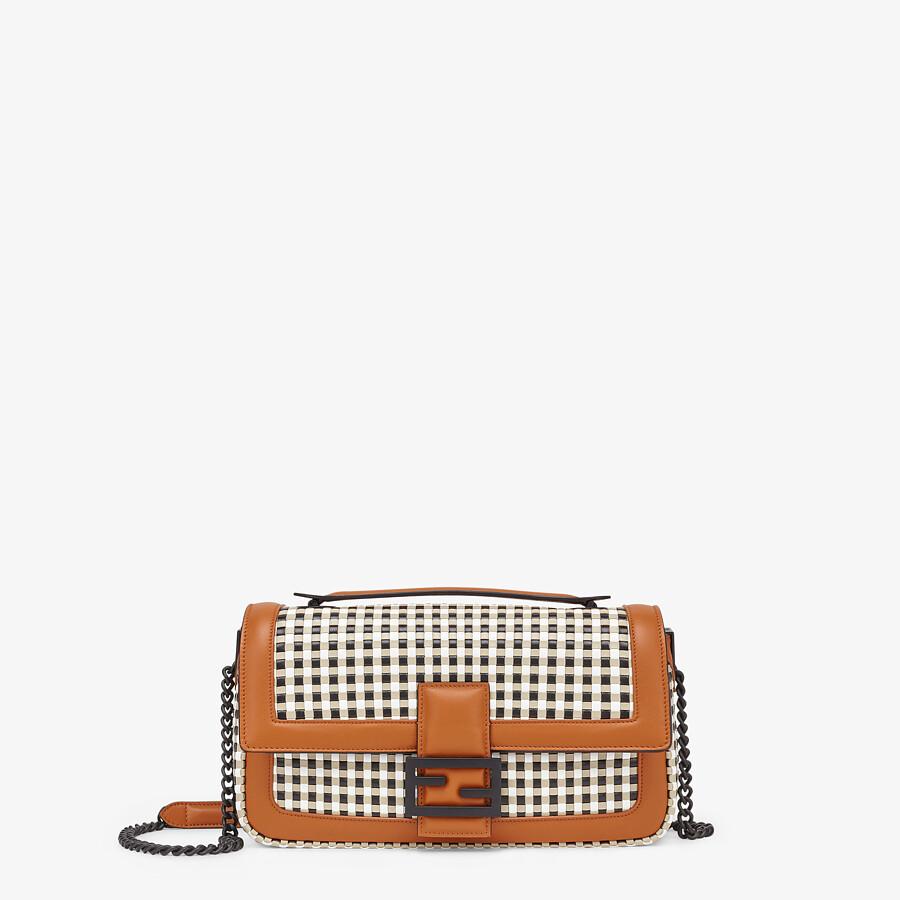 FENDI BAGUETTE CHAIN - Vichy interlace bag - view 1 detail