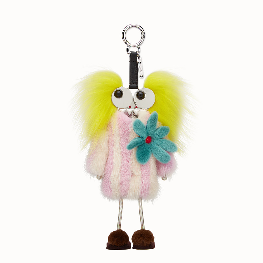 FENDI FENDI WITCHES CHARM - Charm in multicoloured fur - view 2 detail