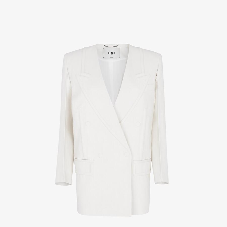 FENDI SAKKO - Jacke aus Leinen in Weiß - view 1 detail