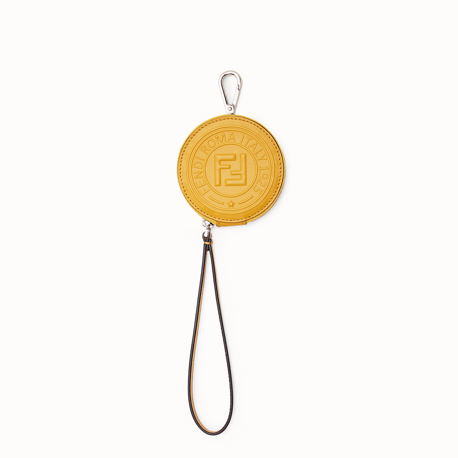 FENDI COIN PURSE - Yellow leather charm - view 1 detail
