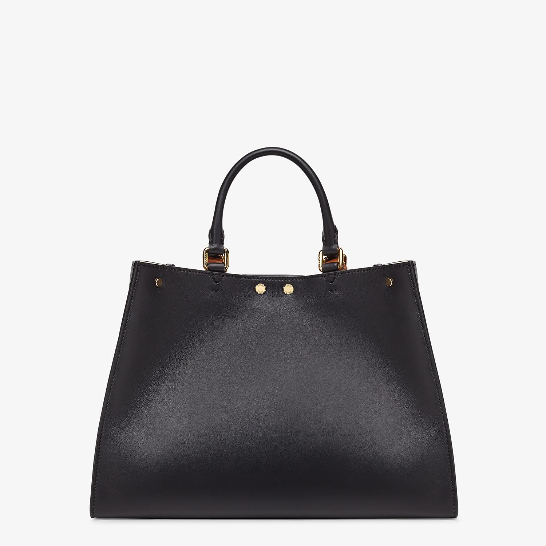 FENDI SMALL PEEKABOO X-TOTE - Black leather bag - view 4 detail