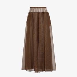 FENDI SKIRT - Check organza skirt - view 1 thumbnail