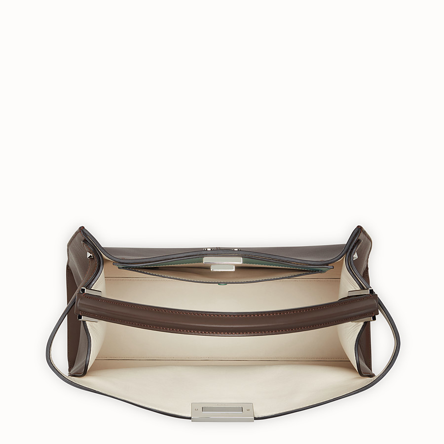 FENDI PEEKABOO X-LITE - Brown leather bag - view 5 detail