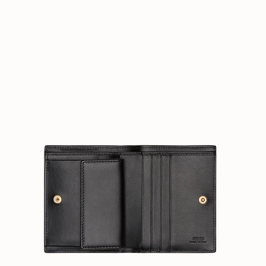 FENDI BIFOLD - Black compact leather wallet - view 4 detail
