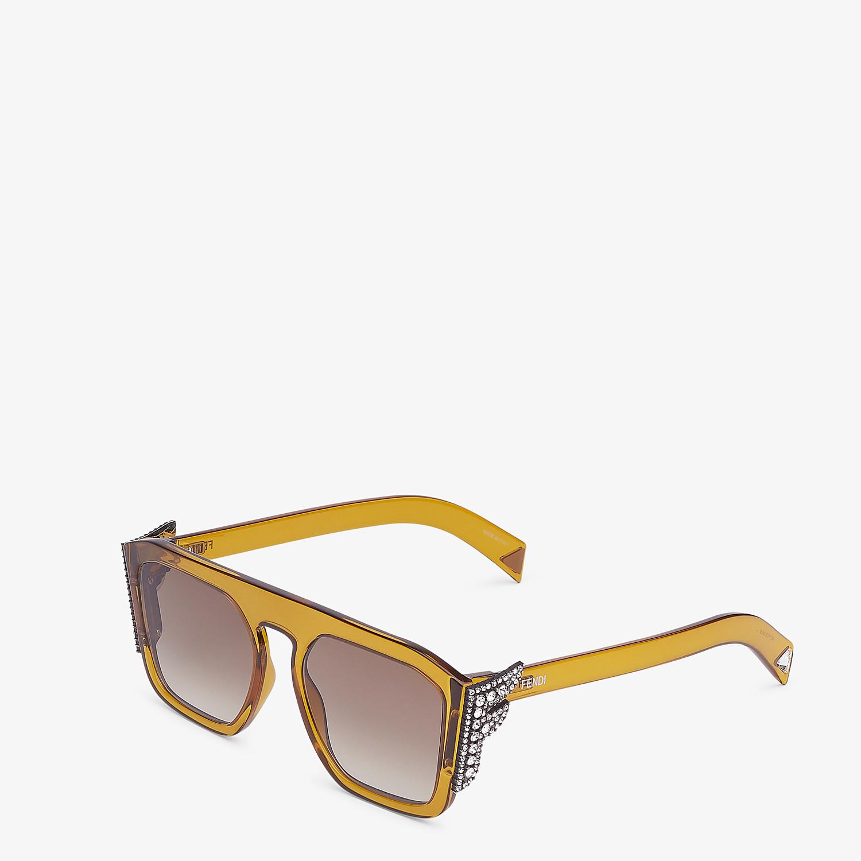 FENDI FFREEDOM - Occhiali da sole gialli - vista 2 dettaglio