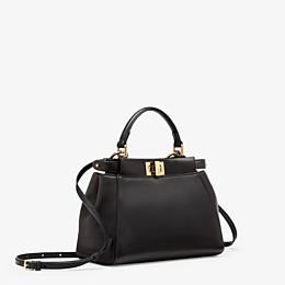 FENDI PEEKABOO ICONIC MINI - Black nappa handbag - view 3 thumbnail