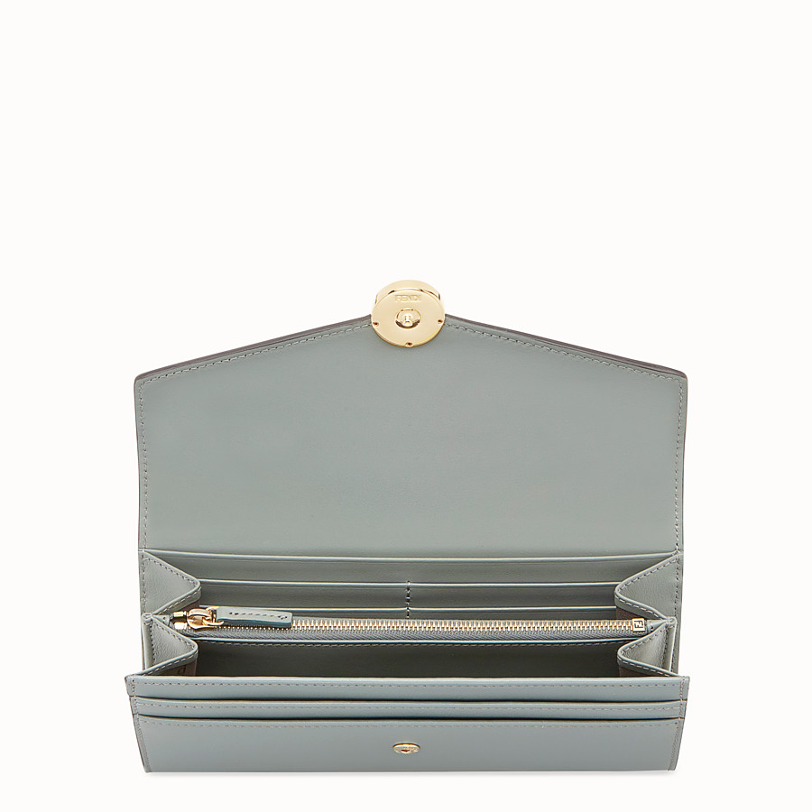 FENDI CONTINENTAL - Green leather wallet - view 4 detail