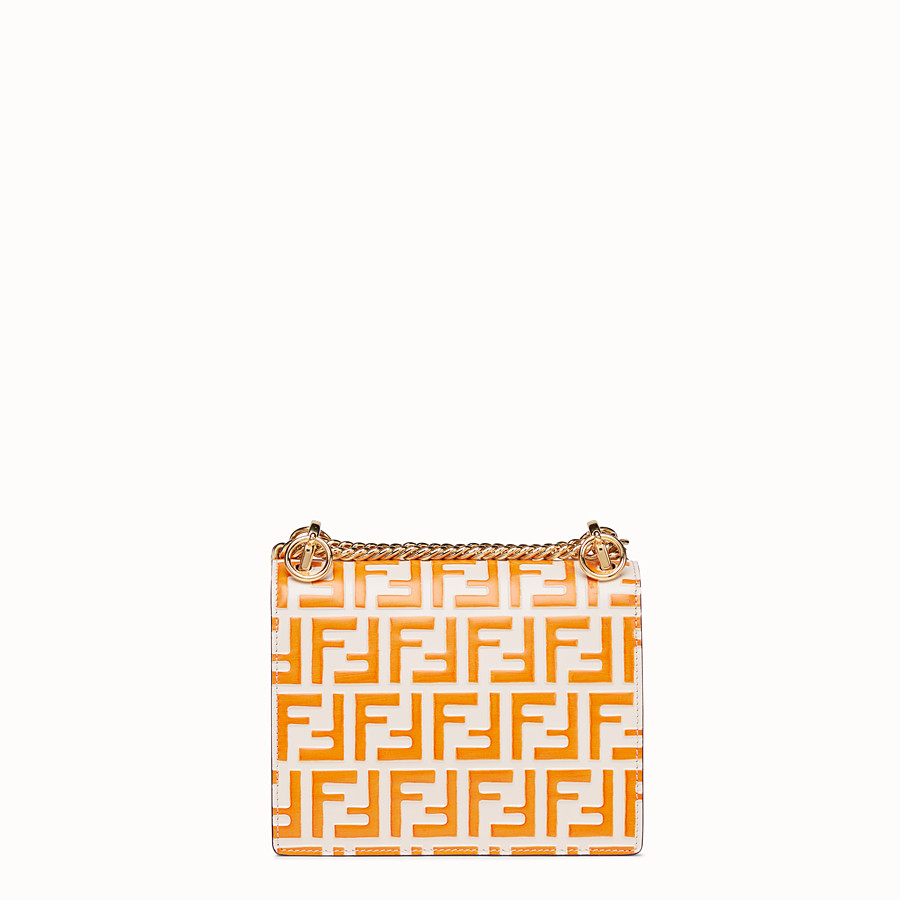 FENDI KAN I SMALL - White leather mini-bag - view 3 detail