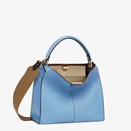 FENDI PEEKABOO X-LITE MEDIUM - Tasche aus Leder in Blau - view 4 thumbnail