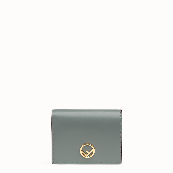 FENDI BIFOLD - Green compact leather wallet - view 1 small thumbnail