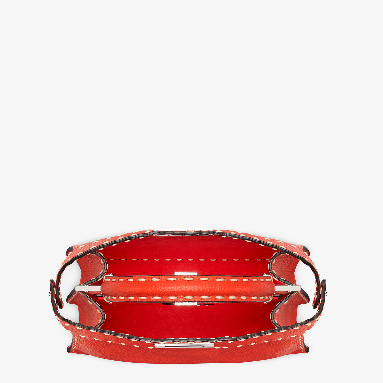 FENDI PEEKABOO ISEEU MEDIUM - Red full grain leather bag - view 6 detail