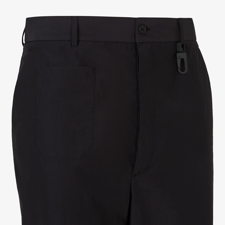 FENDI TROUSERS - Black cotton trousers - view 3 detail