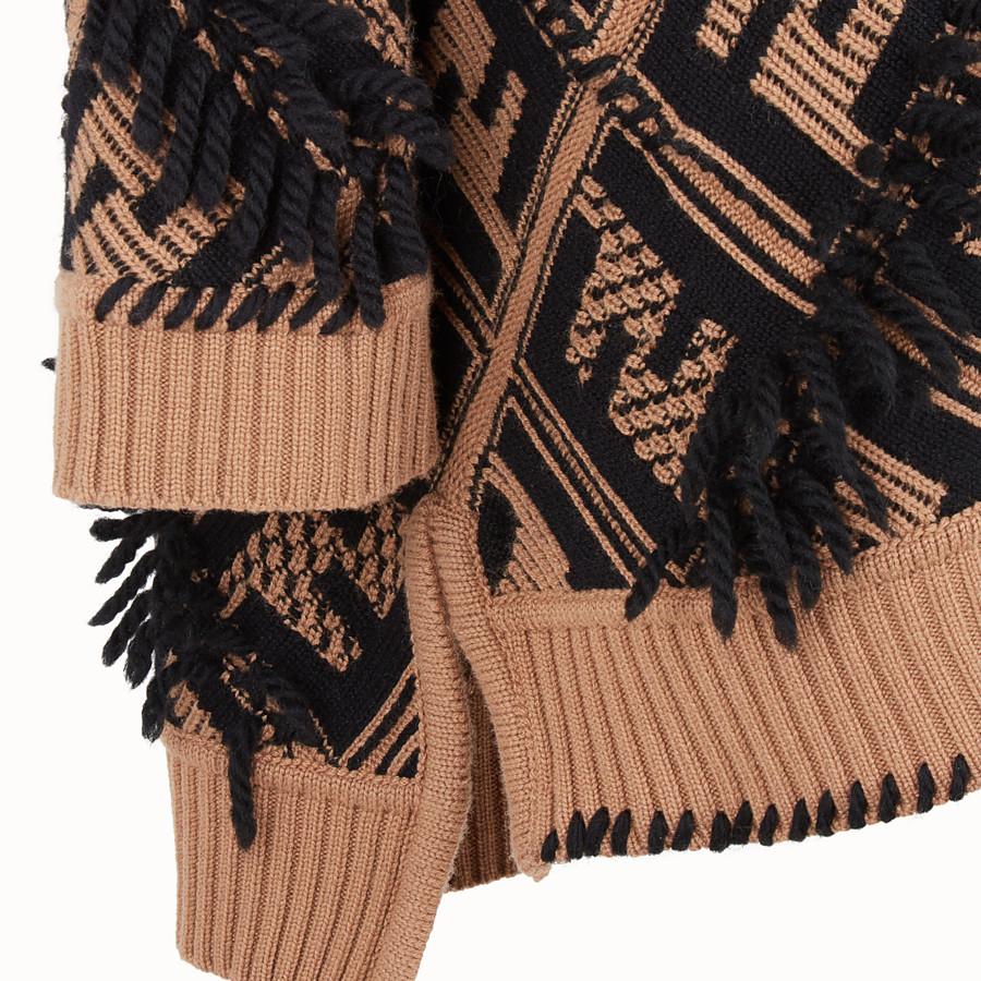 FENDI DRESS - Multicolour cashmere dress - view 3 detail
