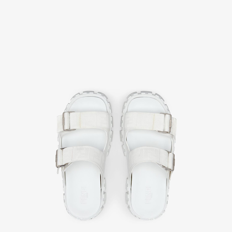 FENDI SANDALS - White fabric sandals - view 4 detail