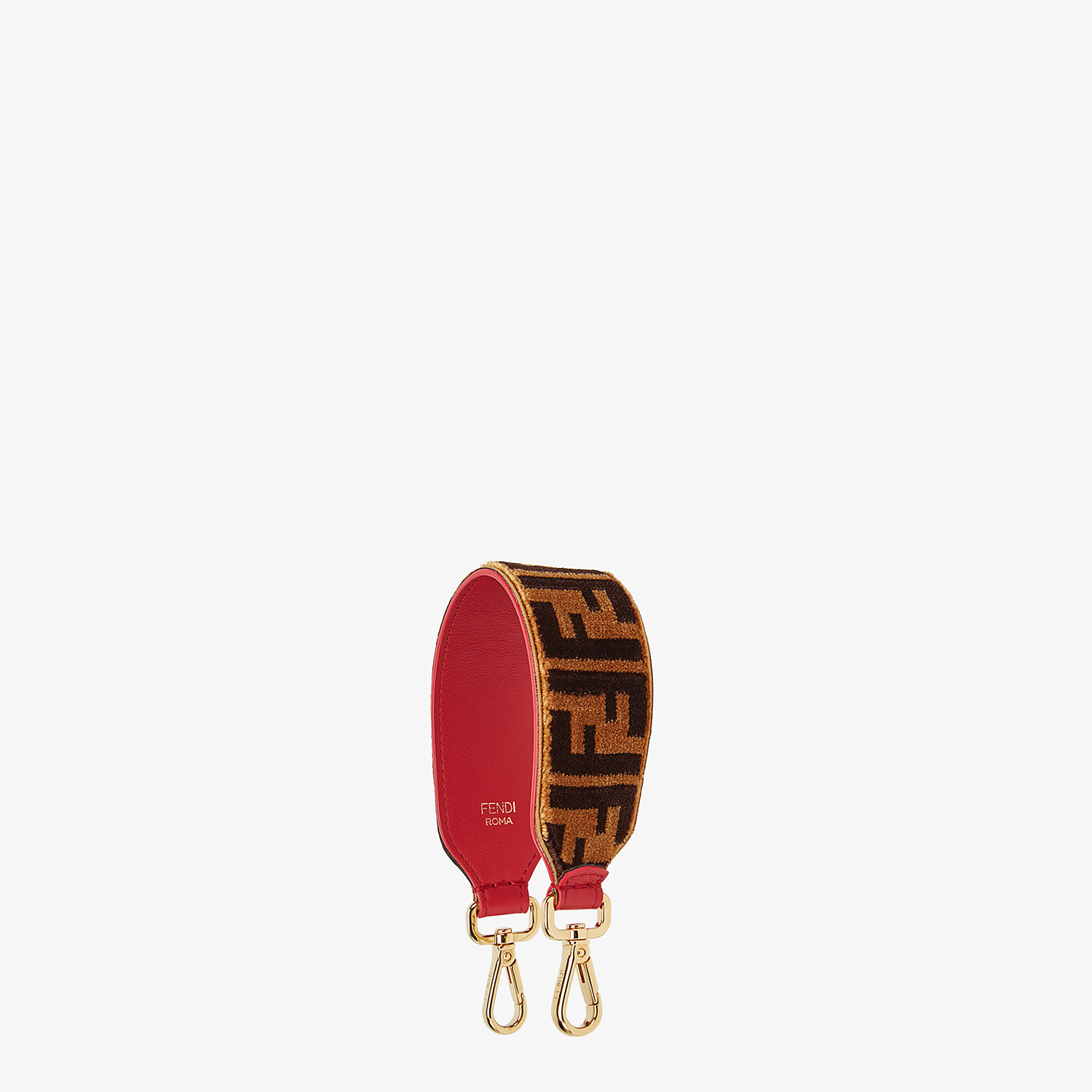 FENDI MINI STRAP YOU - Textured-effect leather shoulder strap - view 1 detail