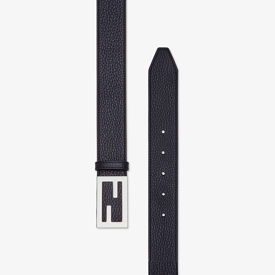 FENDI BELT - Black leather belt - view 2 detail