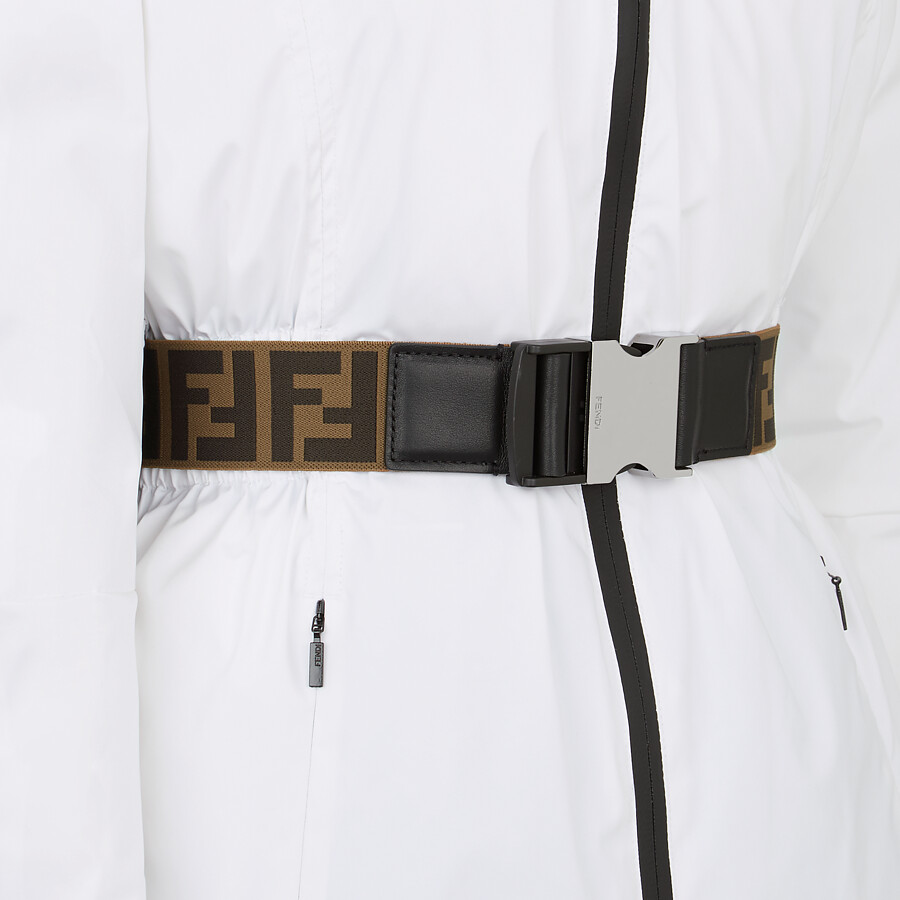 FENDI SKI JACKET - Ski jacket in white tech nylon - view 3 detail