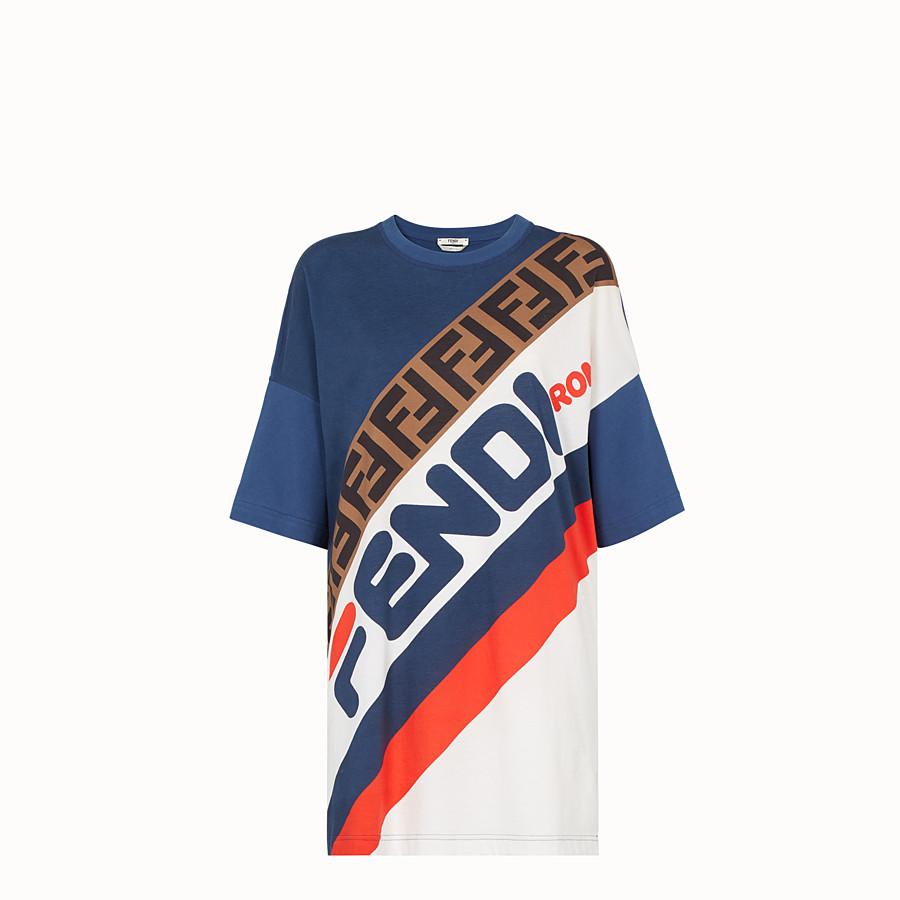 FENDI T-SHIRT - Multicolour jersey T-shirt - view 1 detail