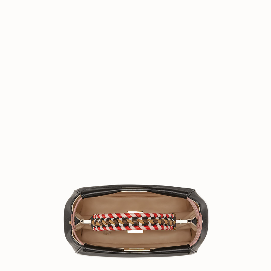 FENDI PEEKABOO MINI - Black nappa leather bag - view 5 detail