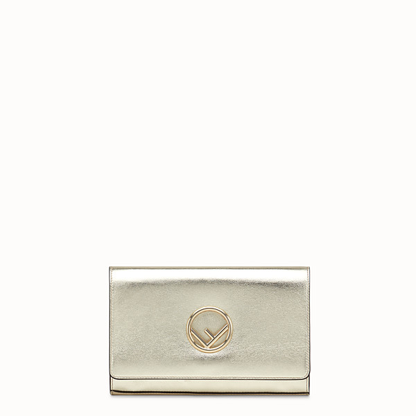 FENDI WALLET ON CHAIN - Champagne leather mini-bag - view 1 small thumbnail
