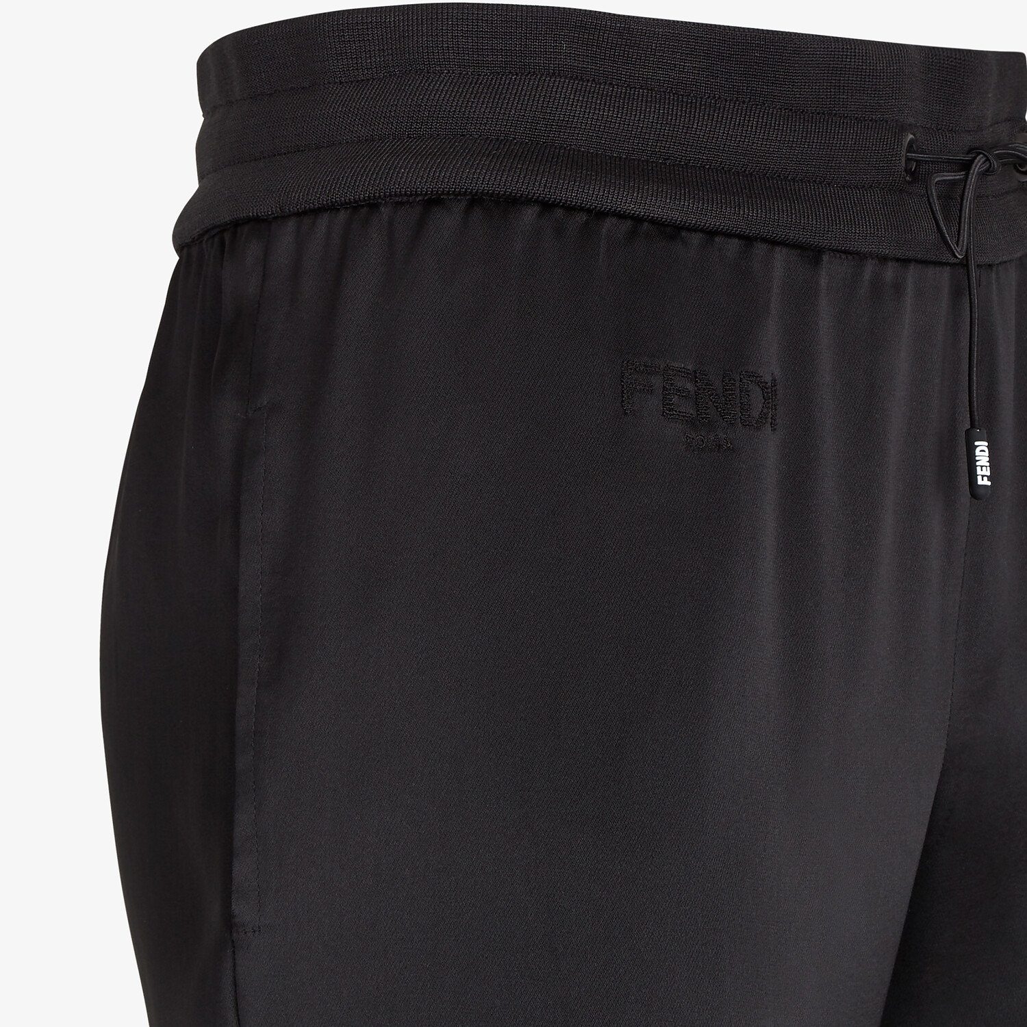 FENDI JUMPSUIT - Black satin sweatshirt and pants - view 6 detail