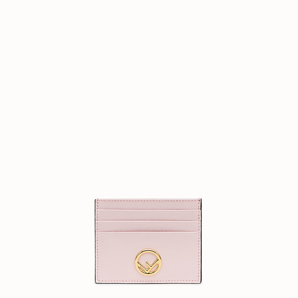 FENDI CARD HOLDER - Pink leather flat card holder - view 1 small thumbnail