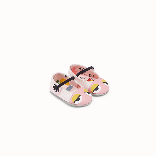 FENDI MUSHROOM FLAT SHOES - Flat shoes in jersey con stampa allover - vista 1 thumbnail piccola