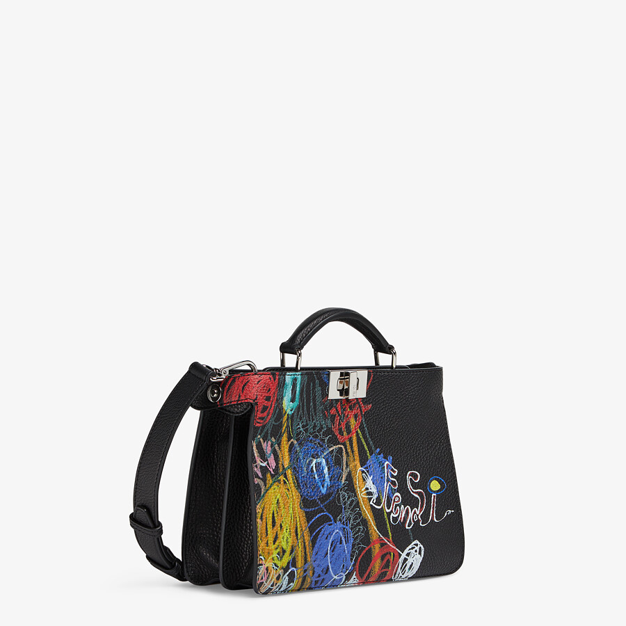 FENDI PEEKABOO ISEEU MINI - Leather bag with multicolor print - view 3 detail