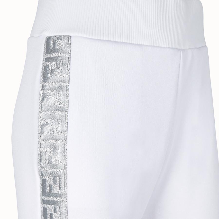 FENDI TROUSERS - White jersey jogging trousers - view 3 detail