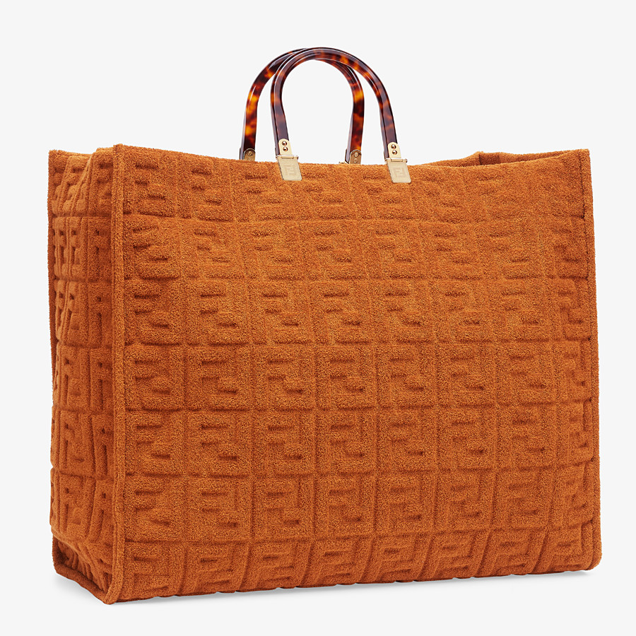 FENDI SUNSHINE SHOPPER - Shopper in brown terrycloth - view 2 detail