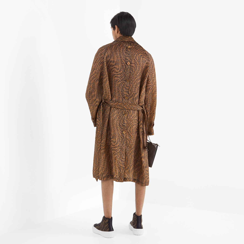 FENDI 風衣外套 - 棕色硬紗風衣外套 - view 4 detail