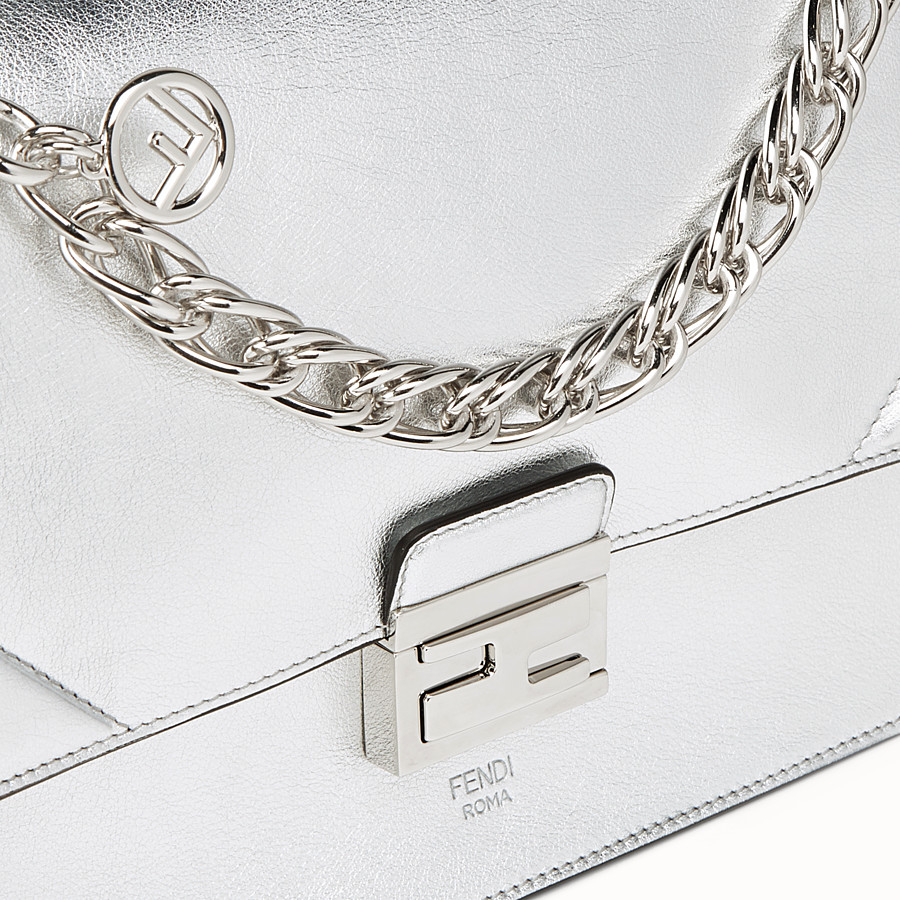FENDI KAN U - Silver leather bag - view 6 detail