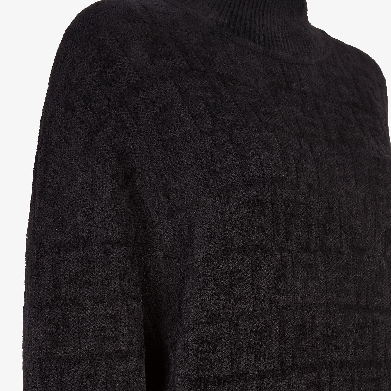 FENDI SWEATER - Black velvet sweater - view 3 detail