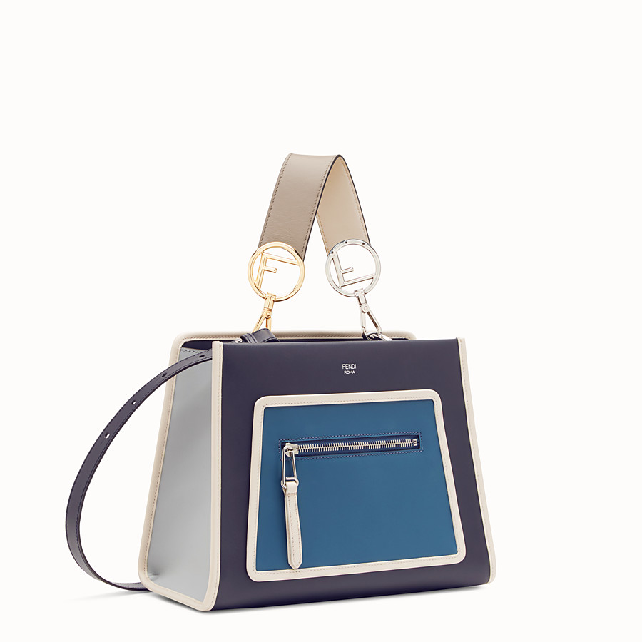 FENDI RUNAWAY SMALL - Blue leather bag - view 2 detail