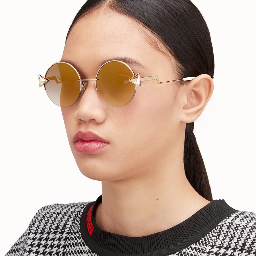 FENDI RAINBOW - Gold sunglasses. - view 4 detail