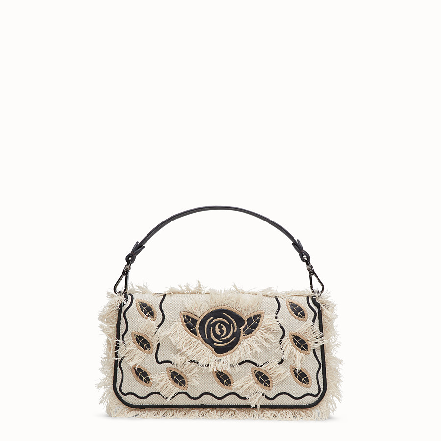 FENDI BAGUETTE - Natural-color canvas bag - view 3 detail