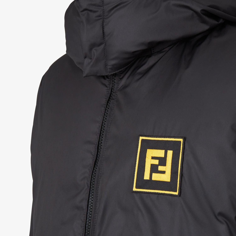 FENDI DOWN JACKET - Black tech fabric down jacket - view 3 detail